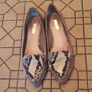 Louise et Cie snakeskin and suede flats